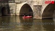 Sauvetage dans la Mayenne à Laval