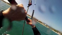 light wind kitesurf with small kite.. is possible  ( self launch and landing kite)