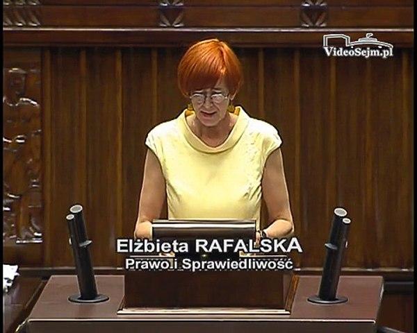 Poseł Elżbieta Rafalska - Wystąpienie z dnia 08 lipca 2015 roku.