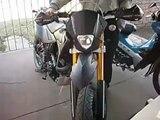 motard 200 con escape deportivo procircuit ti 4