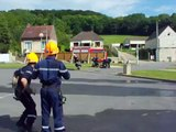 Manoeuvre JSP Vs Moniteurs (sapeur-pompier)