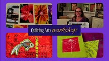 Quilting Arts Workshop DVD -- Machine Stitching & Painting Quilts - Ana Buzzalino
