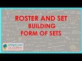 465.$ CBSE  Maths Class XI, ICSE Maths Class 11-    Roster and Set Building form of sets