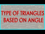 417.CBSE Class VI Maths,  ICSE Class VI Maths -  Type of Triangles - Based on Angle
