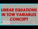 1343. $ CBSE  Maths Class IX, ICSE Maths Class 9 -   Linear equations in tow variables concept