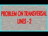 131-$ CBSE Class VI Maths,  ICSE Class VI Maths -  problem on transversal lines - 2
