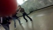 NEW Extreme Russian Subway Crazy Fight  Russian Police Reaction  Watch only from Russia 2013