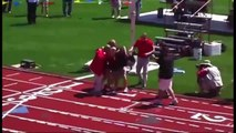 Finish of DIII 3200 Meter Race, Ohio State Track Meet