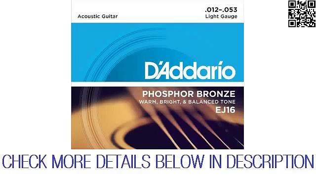 D`Addario EJ16 Phosphor Bronze Acoustic Guitar Strings, Light Preview