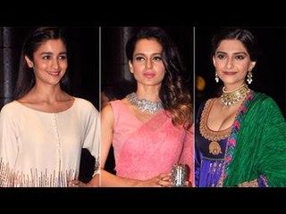 Alia Bhatt, Kangana Ranaut & Sonam Kapoor at Shahid Kapoor & Mira Rajput's GRAND WEDDING RECEPTION