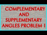 163-$ CBSE Class VI Maths,  ICSE Class VI Maths -   Complementary and supplementary angles Problem 1