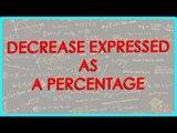 1431. $ CBSE Class VI Maths,  ICSE Class VI Maths -  Decrease expressed as a percentage