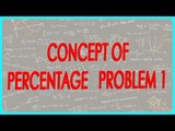 159-$ CBSE Class VI Maths,  ICSE Class VI Maths -  Concept of percentage   Problem 1