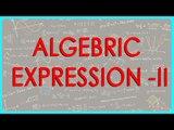 CBSE Class VI maths,  ICSE Class VI maths -   Algebric expression   ii