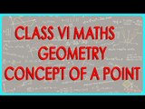CBSE Class VI maths,  ICSE Class VI maths -   Geometry - Concept of a Point