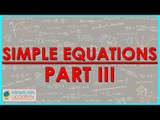 $ CBSE Class VII Maths,  ICSE Class VII Maths -   Simple equations Part III