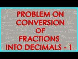 $ CBSE Class VI Maths,  ICSE Class VI Maths -  Problem on conversion of fractions into decimals - 1