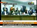 Zelaya en conferencia prensa El Salvador