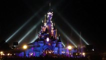 Noël 2012 : Illumination du château de La Belle au Bois Dormant de Disneyland Paris