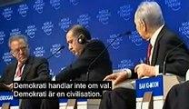 Peres svarar Erdogan i Davos. Del 1 av 3. Svensk text.