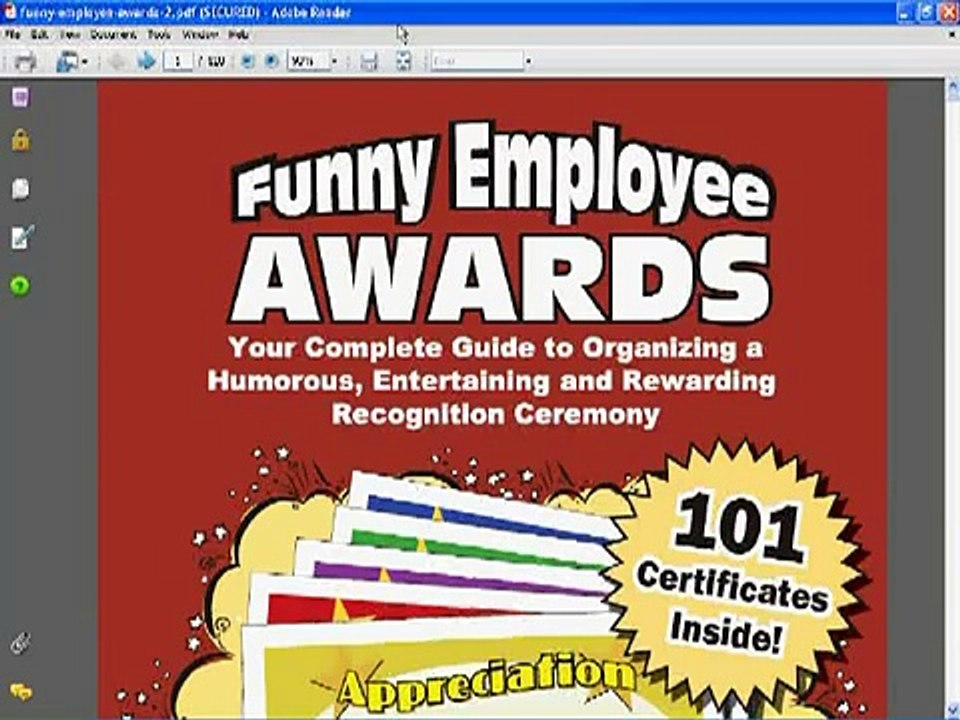 Funny Employee Awards - Look Inside