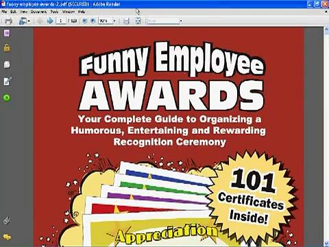 Funny Employee Awards – Look Inside