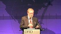 "Professor Paul Collier, author of ""The Bottom Billion"", addresses DFID conference"