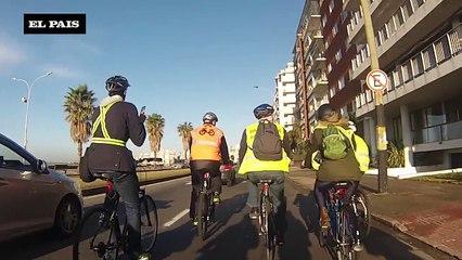 Daniel Martinez  va en bici a asumir como alcalde
