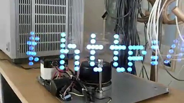 Spinning LED Display using Fan Motor 2 - Featured on Hacked Gadgets