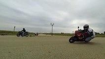 Motorcycle Wheelies & Knee Downs - 120 FPS Slow Motion - Yamaha R1 vs FZ1 vs YZF-R6 vs CBR 1000rr