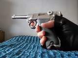 Airsoft Pistol - WE Luger P08 Silver