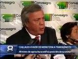 Declaraciones del Ministro de Agricultura Caillaux sobre transgénicos - MINAG