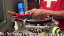The Swiss Davis Cup Team stringer shows how to expertly string a racket