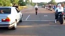 Epic Fail ! Run Moto vs Car