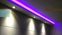 Stuckleisten, Lichtprofile für indirekte LED Beleuchtung mit Spots / LED Bänder