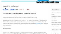 IPhone 6 and 6 plus Apple IOS 8.4 Jailbreak Official - IPhone, IPad & IPod Touch