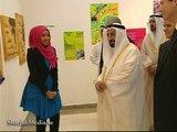 حاكم الشارقة يفتتح معرض مشاريع طلبة الفنون الجميلة