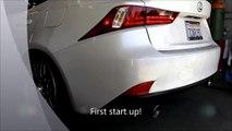 Tsudo Lexus IS250 IS350 2014 + Dual SP Burnt Tip Catless Catback exhaust