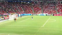 Everton v Stoke Phil Jagielka scores Everton's last penalty to lead his team to the #BAT2015 final.