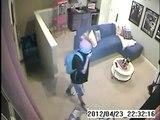 Burglary Suspects Caught On Home Surveillance Video