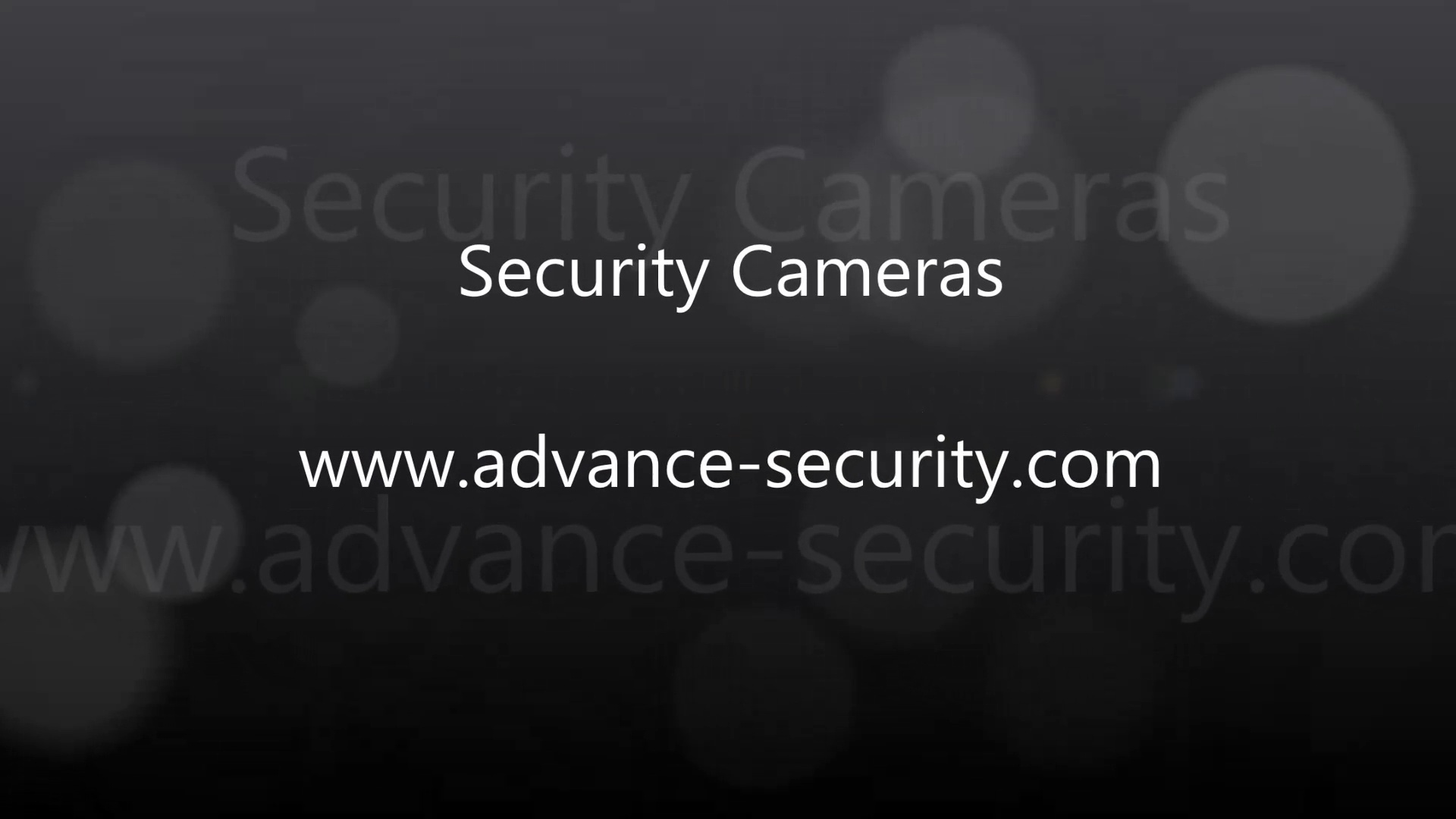 Security Cameras at Advance Security
