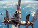 SPACE SHUTTLE ATLANTIS AND RUSSIAN SPACE STATION MIR