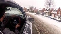 Snow day MX5 drifting