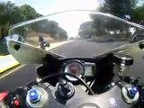 My Suzuki GSX 600R Vs Honda CBR 600 Race at high speed