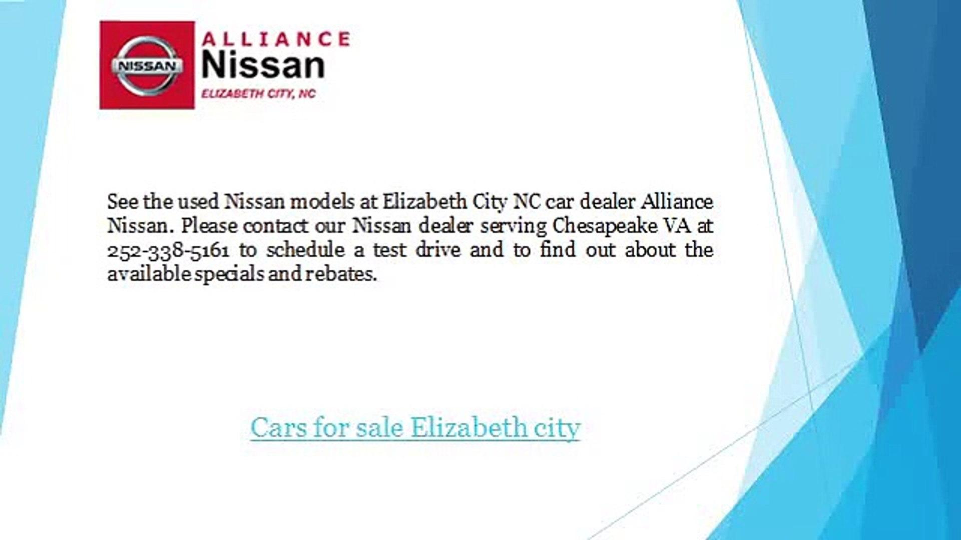 Nissan Dealers In Va >> Used Cars For Sale In Elizabeth City