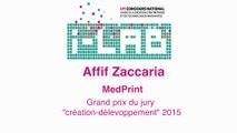 """i-LAB 2015 : Affif Zaccaria prix spécial du jury """"création-développement"""""""