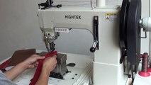 Machine à coudre à pilier à deux aiguilles pour fil tressé pour les coutures décoratives