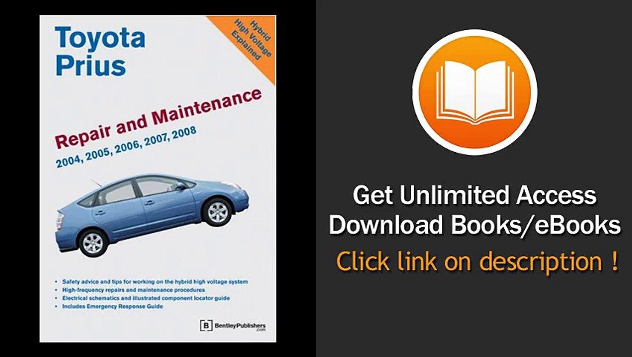 [Download PDF] Toyota Prius Repair and Maintenance Manual 2004-2008