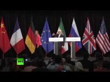 Nuclear deal reached - Iranian FM Zarif & EU foreign policy chief Mogherini news conf
