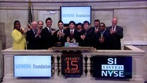 2012 Siemens Competition in Math, Science Technology Winners rings the NYSE Closing Bell